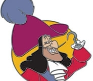 Disney Movie Club VIP Captain Hook Pin