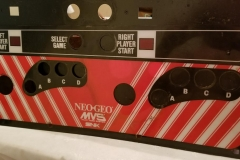 Neo Geo Big Red Control Panel