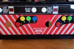 Finished Neo Geo control panel