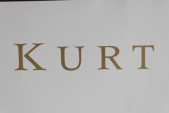 Kurt Russell's name closeup