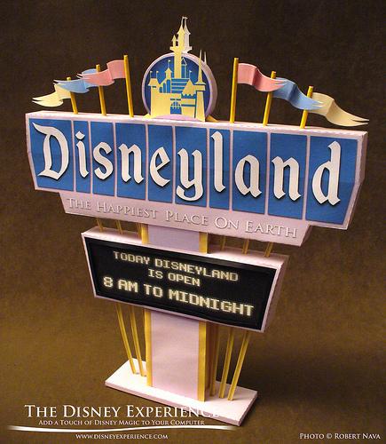 Disneyland paper marquee