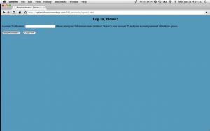 DomainMonkeys login page