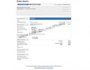 iPhone 4 order cancelled