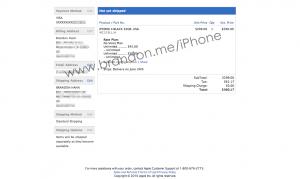 iPhone 4 order status