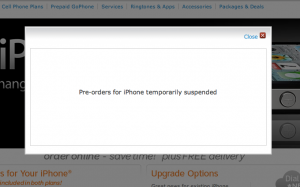 AT&T suspends iPhone 4 orders