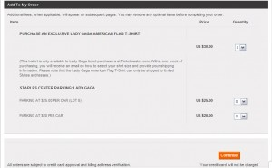 Lady Gaga extra costs for concert
