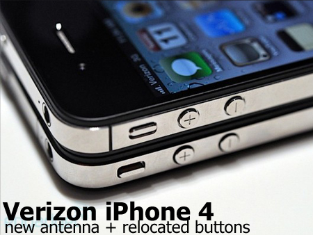 Verizon iPhone 4 button locations