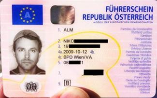 Niko Alm driver license