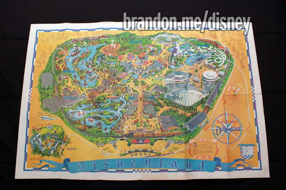 1968 Disneyland Park Map Wall Poster on
