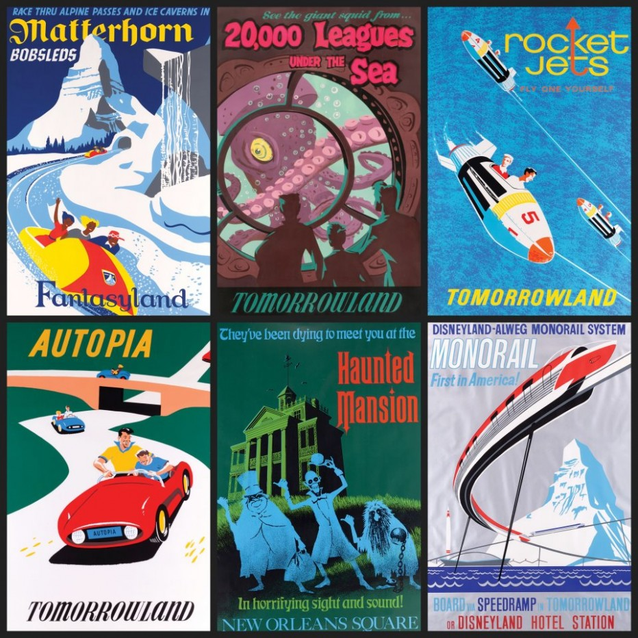 Original Disney Parks Attraction Posters