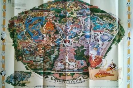 1995 Disneyland Map – 40th Anniversary Wall Map with Errors