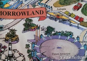 1995 Disneyland map with errors