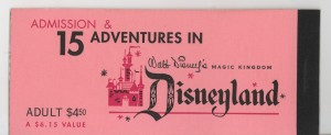 Disneyland ticket book 1959