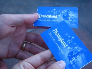 Disneyland tickets 2013