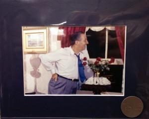 Walt Disney in his apartment above Main Street in Disneyland