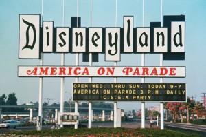 1976 Disneyland marquee