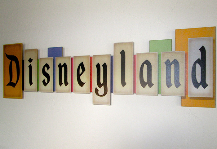 Disneyland Marquee Collectible Wood Sign Errors