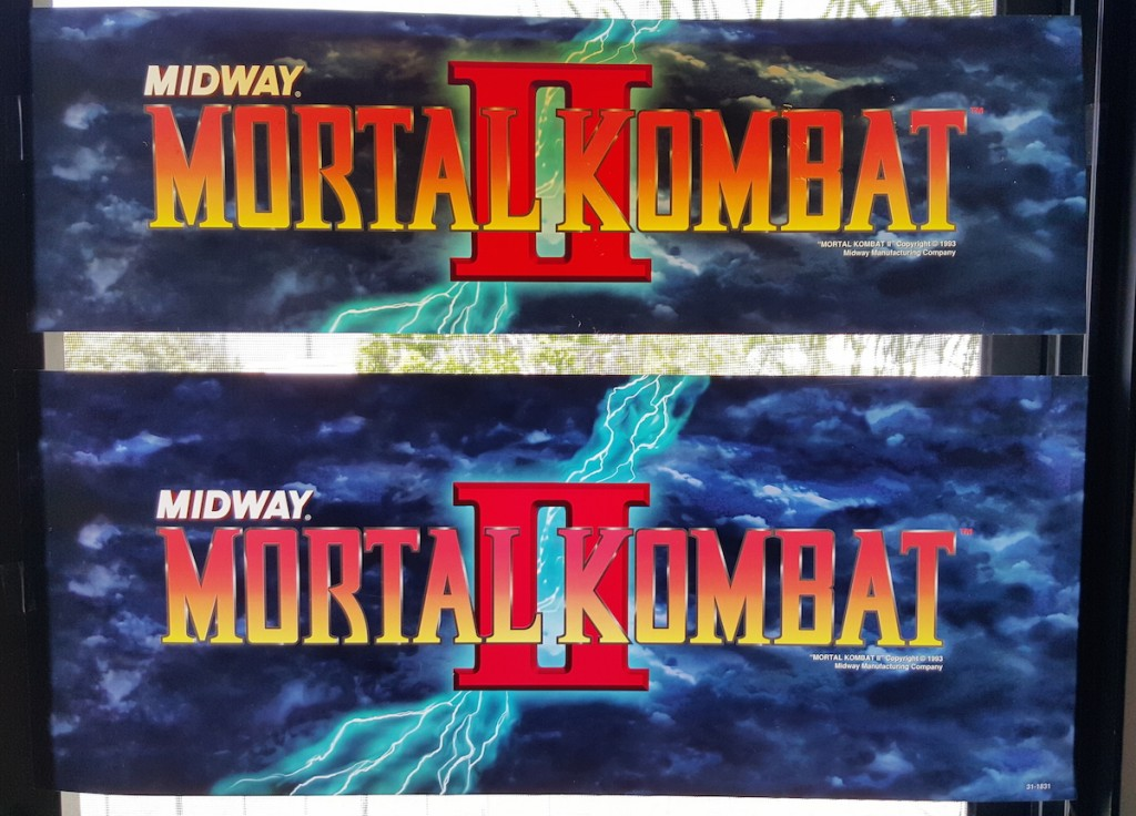 NOS Mortal Kombat II marquee