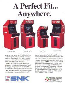 Neo Geo cabinet flyer